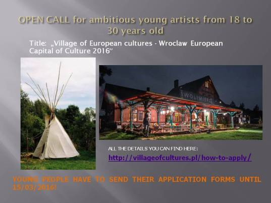Open call for young artists