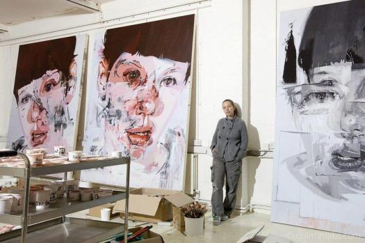 Jenny Saville in her studio